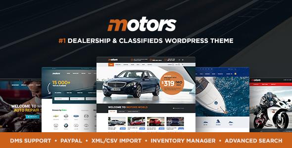 Motors v4.2.2 - Automotive, Car Dealership, Car Rental, Vehicle, Bikes, Classified Listing WordPress Theme