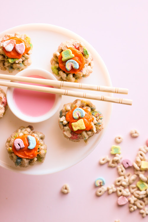 Lucky Charms Sushi for a St. Patrick's Day Treat!