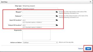 Amazon EMR Mapper Reducer