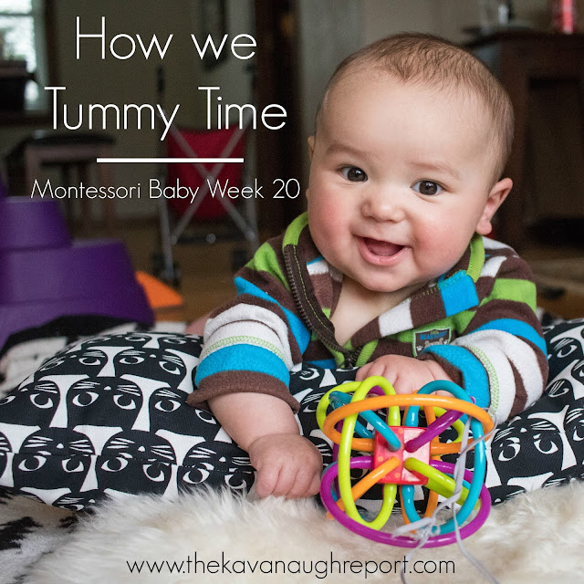 Montessori thoughts on tummy time. Here is how we do tummy time with a Montessori baby. This is one area of Montessori where the answer is not always clear.