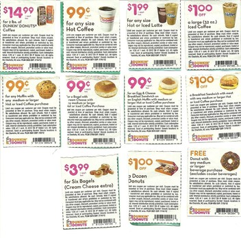 photo relating to Dunkin Donuts Coupons Printable identify Dunkin Donuts Printable Discount coupons May well 2018
