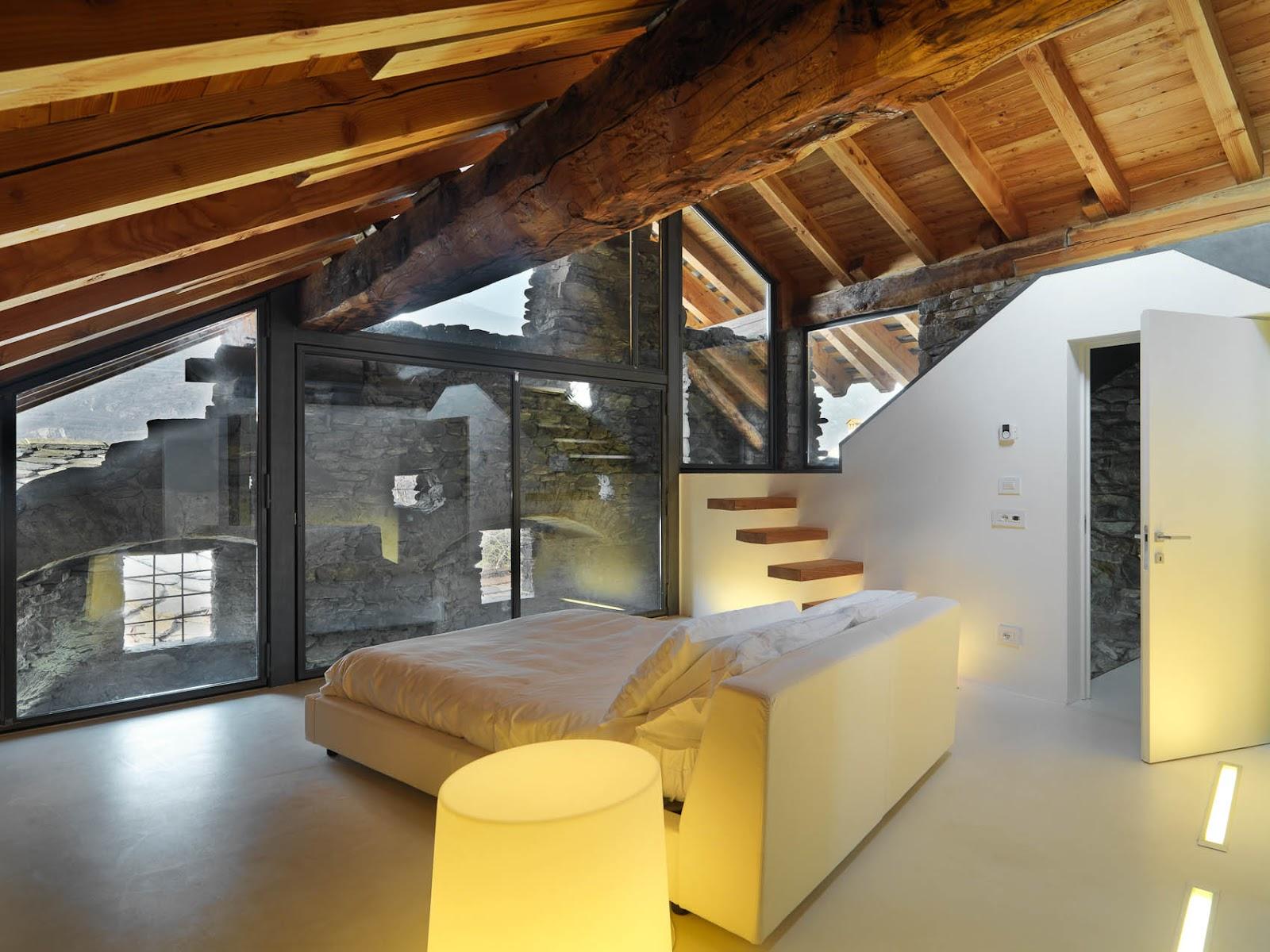 Neo arquitecturaymas espectaculares interiores en madera for Case con vetrate