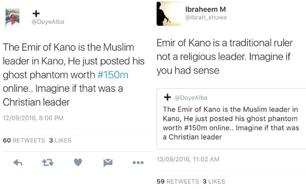 Man gets jammed for comparing Emir of Kano to Nigerian pastors