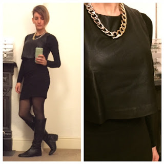 Zara layer little black dress