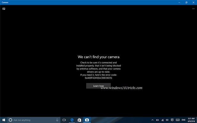 Fix-cant-find-camera-error-windows-10