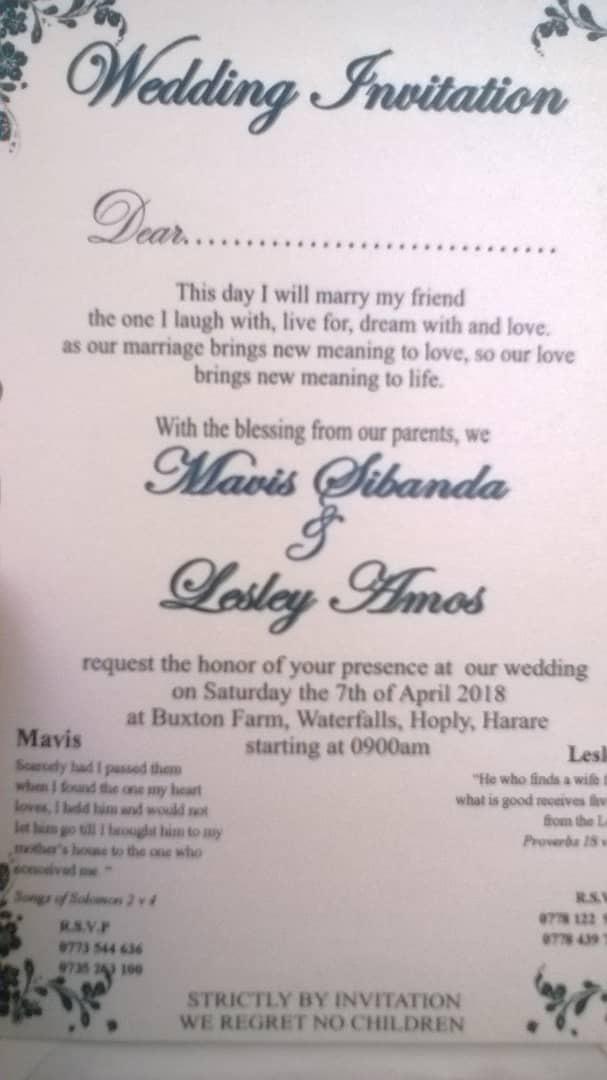 Mafaro Disaporan Shock As Hubby Weds In Hre