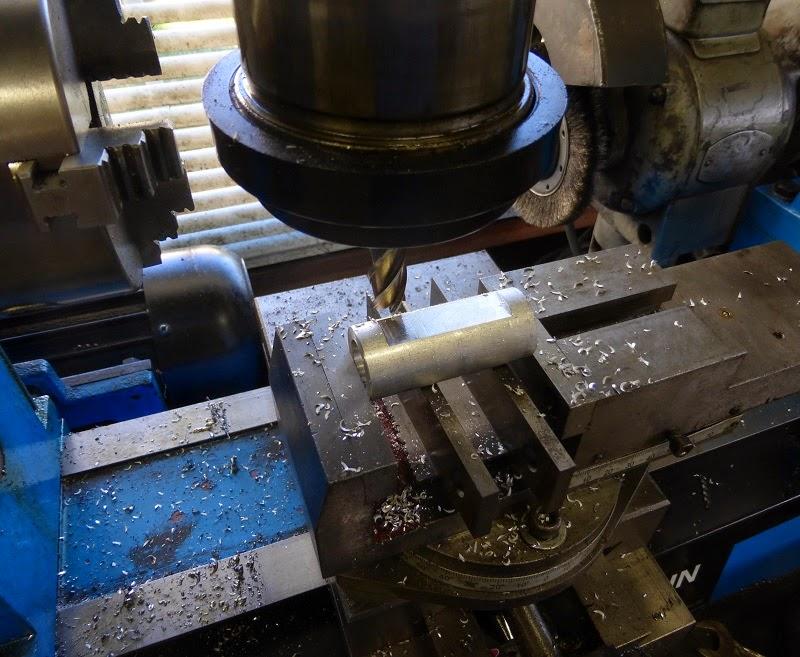 milling set screw flat on aluminum sleeve bushing