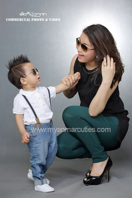 chaw yadanar and her son