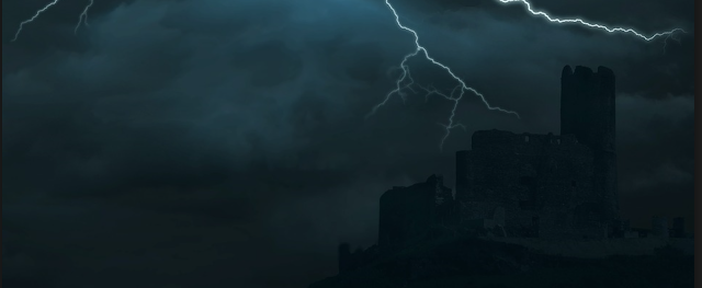 stormy night, castle, time travel fiction, medieval Scotland