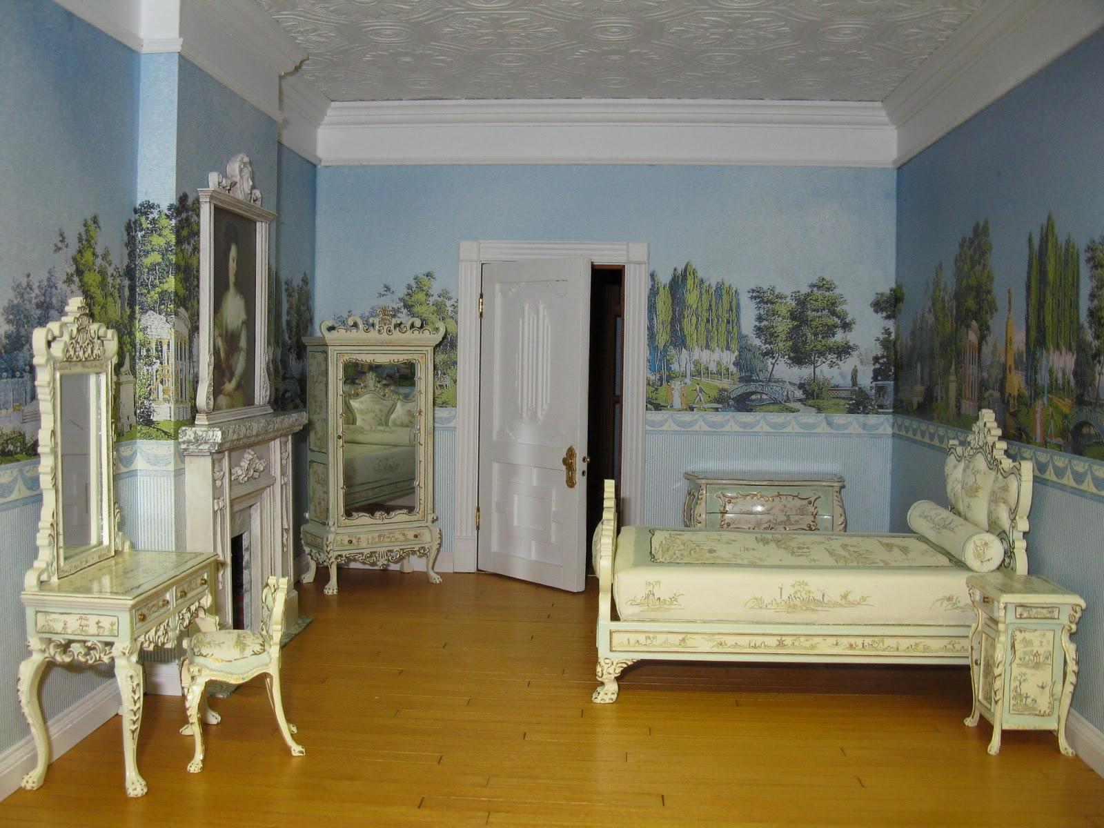 Late Victorian English Manor Dollhouse 1 12 Miniature