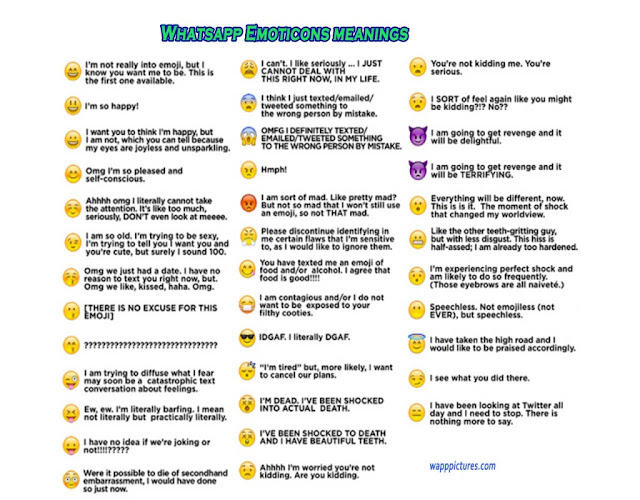 Whatsapp Smiley Emoji Symbols Meanings Explained Here All Trickz