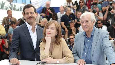 Laurent Lafitte, Isabelle Huppert et Paul Verhoeven à Cannes