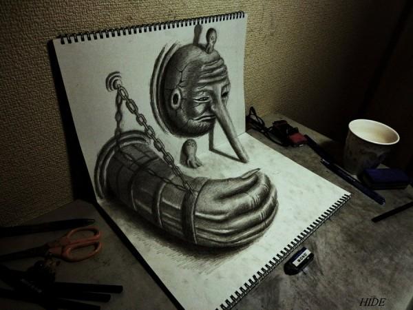 Gambar Sketsa 3 Dimensi Yang Kreatif Keren dan Juga Menakjubkan-12