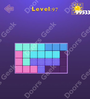 Cheats, Solutions, Walkthrough for Move Blocks Easy Level 97