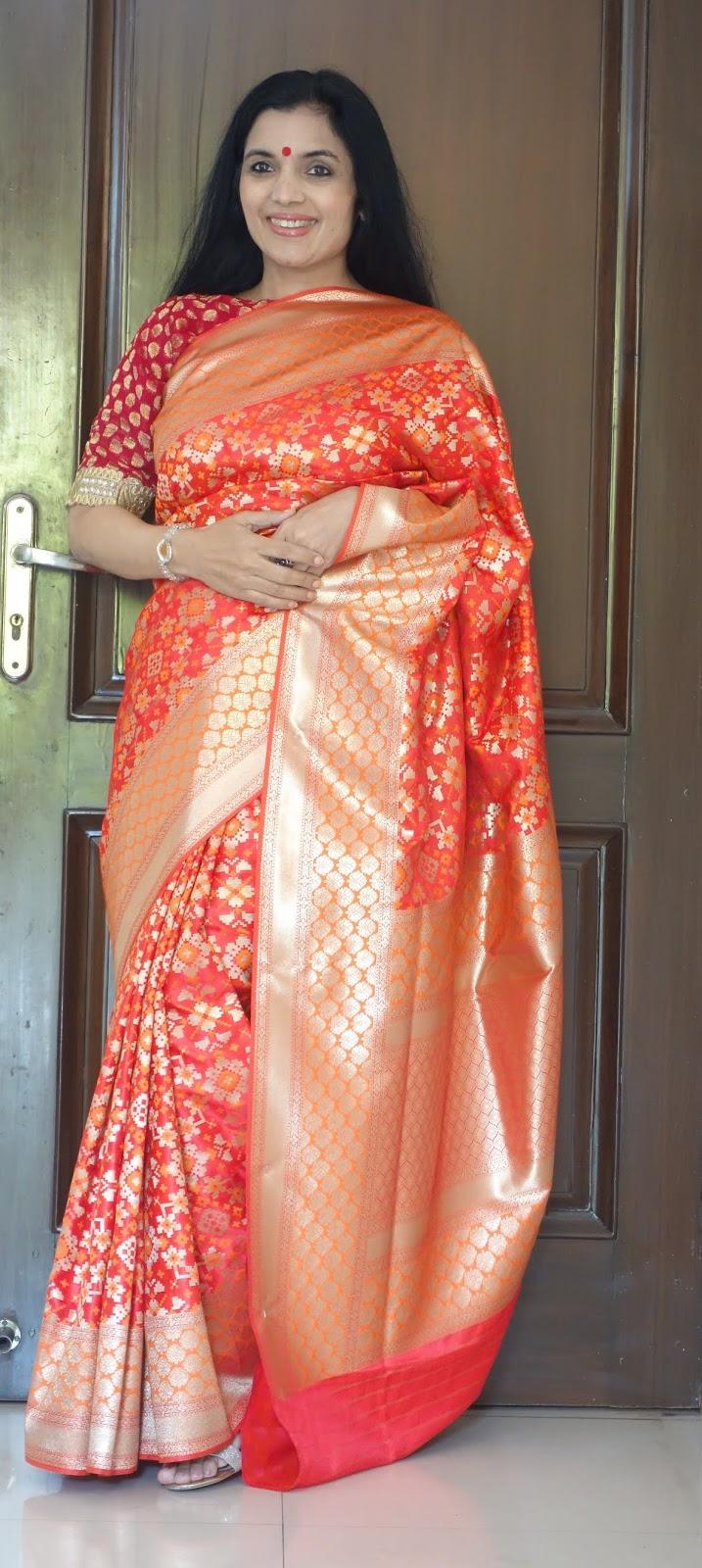 Banarasi patola katan silk saree