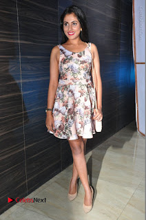 Actress Madhu Shalini Stills in Floral Short Dress at RGV Shiva to Vangaveeti Event  0209.JPG