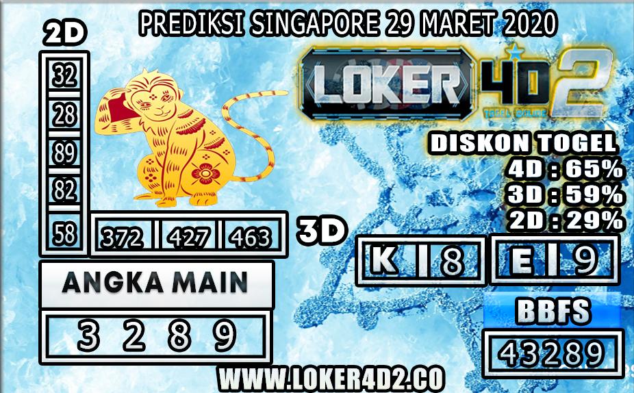 PREDIKSI TOGEL SINGAPORE LOKER4D2 29 MARET 2020