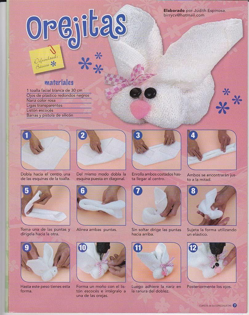 Como hacer figuras con toallas revistas de manualidades for Soporte para toallas de bano