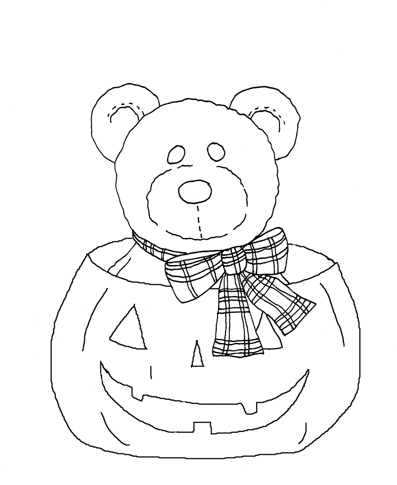 halloween teddy bear coloring pages | Free Dearie Dolls Digi Stamps: Teddy Bear Pumpkin