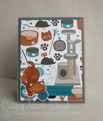 Embrace Your Inner Kitten Toys Card by Crafty Math Chick | Newton Unwinds by Newton's Nook Designs