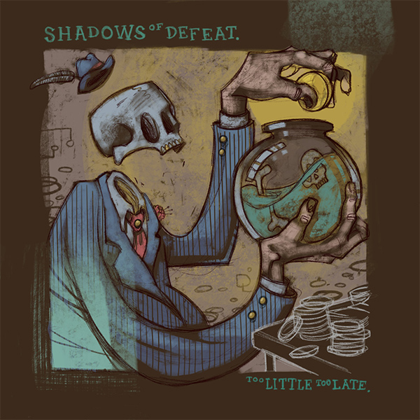 """Skatepunkers Exclusive: Shadows Of Defeat premiere video for """"Headwind"""" strem new album """"Too Little Too Late"""""""