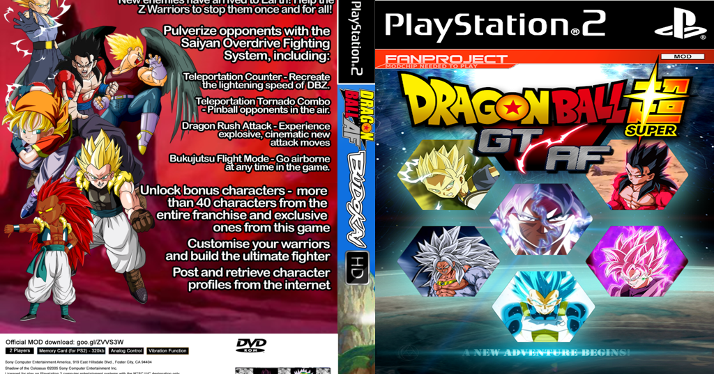 dragon ball z af ps2 iso download