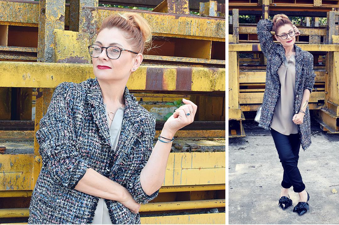schöner Mantel aus Bouclé von Amy Vermont by Wenz