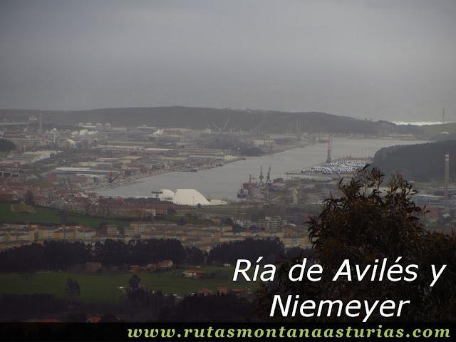 Ría de Aviles y Niemeyer desde el Pico Prieto