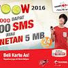CARA PAKET WOW...!!! 30 MENIT NELPON 100 SMS Rp1500  KARTU AS