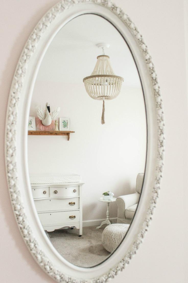 antique mirror nursery