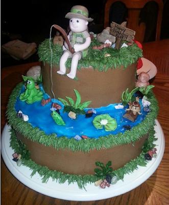 fishing birthday cakes for kids