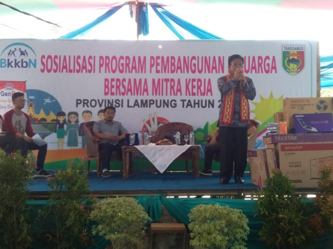 BKKBN Bersama Mitra Kerja Komisi IX DPR RI Melakukan Kunjungan Sosialisasi ke Tanggamus