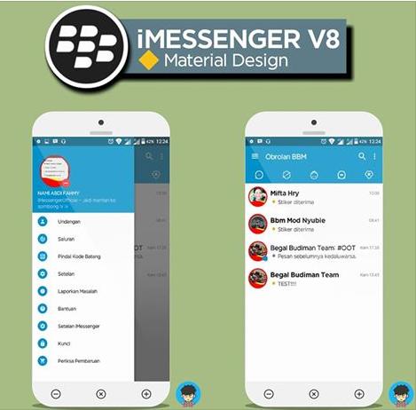 BBM MOD iMessenger V8 Material Design