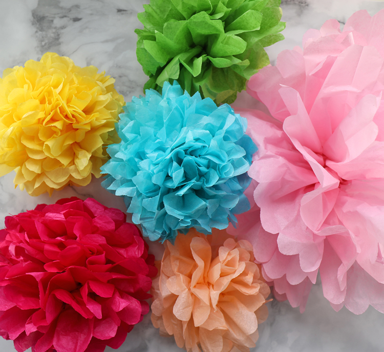 How to make diy hanging tissue paper flower garland our crafty mom how to make diy hanging tissue paper flower garland mightylinksfo
