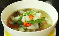 Cara memasak sup ayam labu air, resep ayam labu air