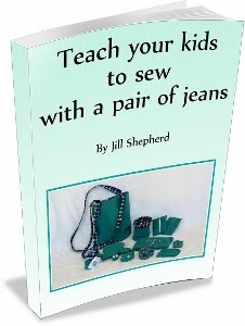 Teach your kids to sew with a pair of jeans