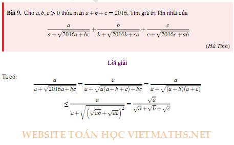 bat dang thuc trong de thi chuyen toan 2016 2017 cac tinh