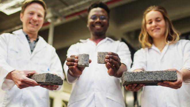 Bio tijolo feito à base de urina humana