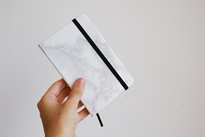 diy marble journal diary francinesplace