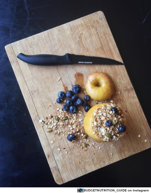 Roasted Apple With Granola Oats From Rebecca Taylor; Budget Friendly Nutrition