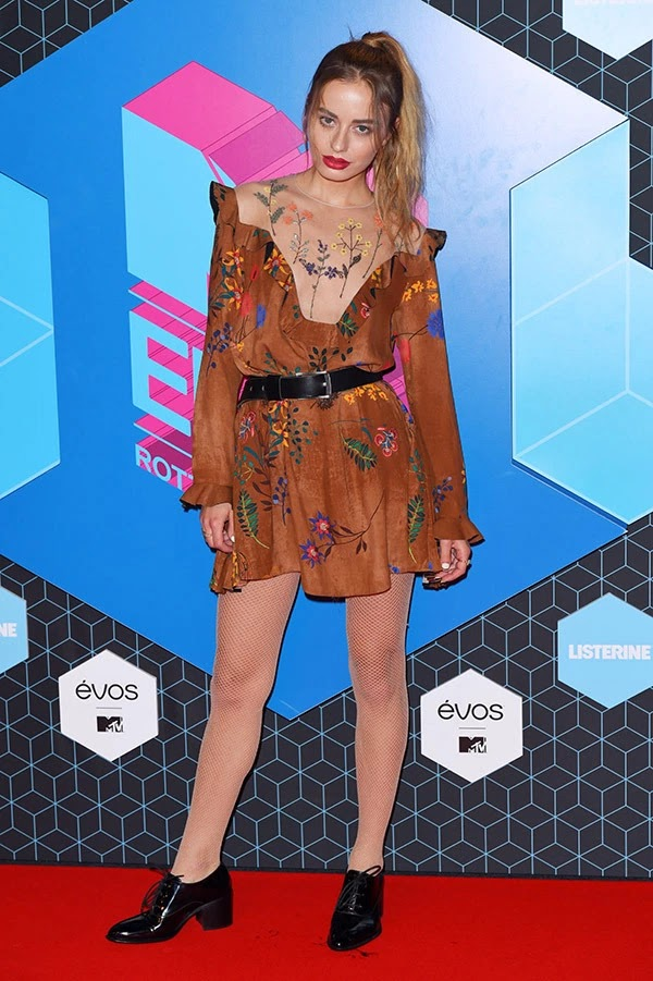 Sonya Esman attends the MTV Europe Music Awards