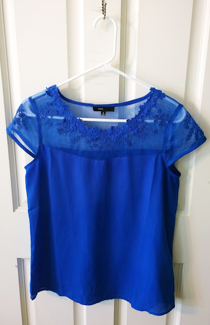 Stitch Fix Review Blue Lace Top