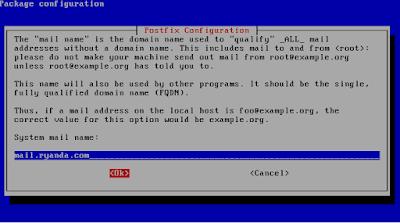 Install postfix
