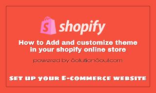 set up e-commerce online shopping website or store