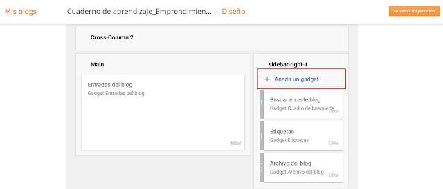 Añadir gagdet blogger