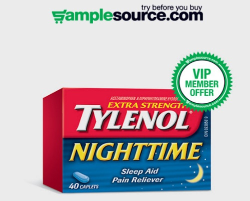 Samplesource VIP Free Sample Tylenol Extra Strength Nighttime
