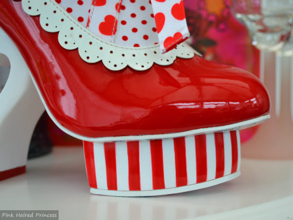 irregular choice rosie with love striped platform