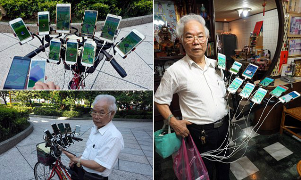The obsession with Pokemon Go drives Seventy to use 11 smartphones to play!