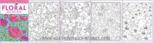 kleurboek bloemen, floral designs