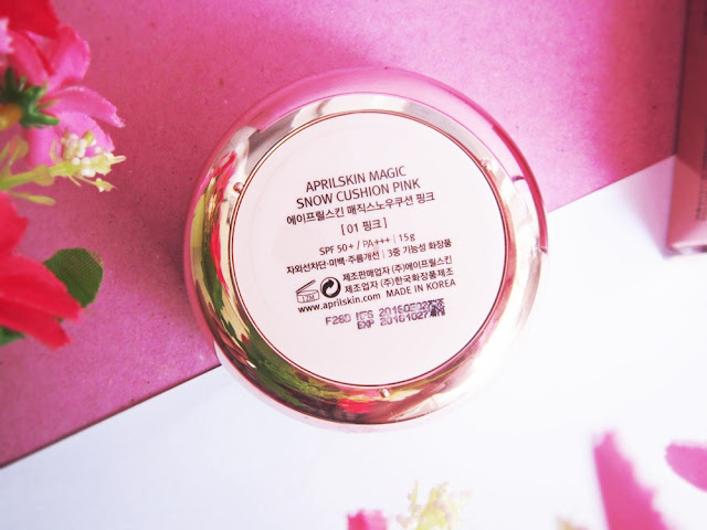 review april skin magic snow cushion pink